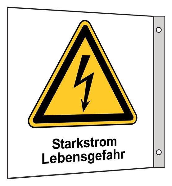 Starkstrom - Fahnen- und Winkelschilder, Elektrotechnik