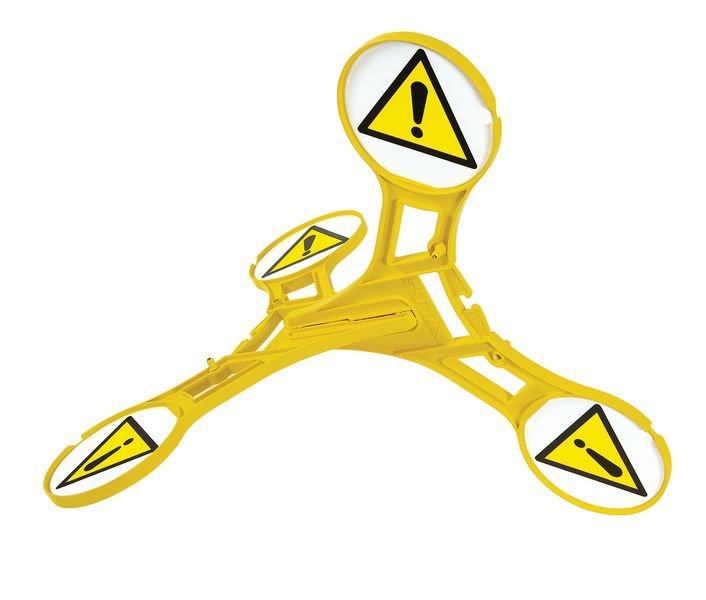 Allgemeines Warnzeichen - SETON Warnaufsteller 360 mit Warnzeichen nach DIN EN ISO 7010