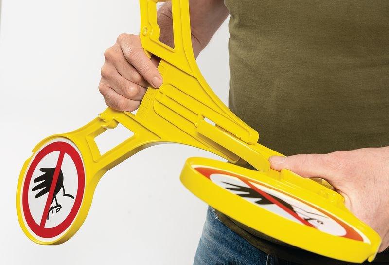 Warnung vor Rutschgefahr - SETON Warnaufsteller 360 mit Warnzeichen nach DIN EN ISO 7010