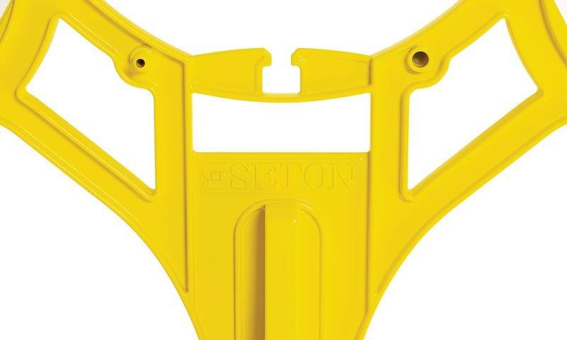 Warnung vor Rutschgefahr - SETON Warnaufsteller 360 mit Warnzeichen nach DIN EN ISO 7010 - Warnaufsteller