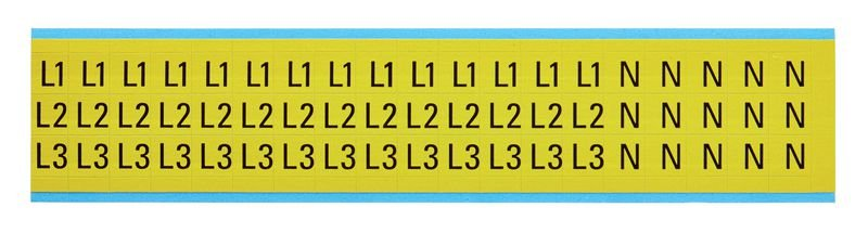 L1,L2,L3,N - Etiketten zur Kennzeichnung von Spannung, Phase, Erdung, Isolation