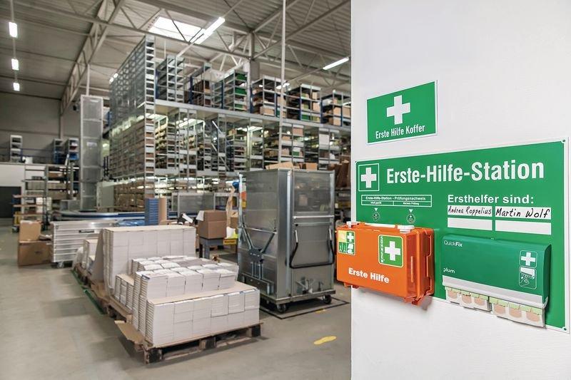 Erste-Hilfe-Stationen - Arbeitsschutz und Betriebssicherheit