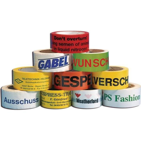 Verpackungsbänder, individuell bedruckbar - Packbänder, Gewebebänder, Kordeln