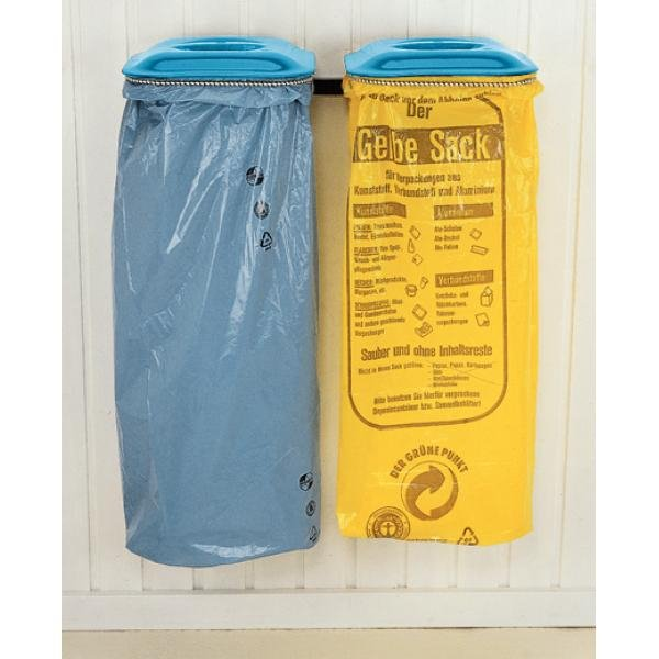 Abfall-/Wertstoffsammler mit farbigen Deckeln - Abfallbehälter