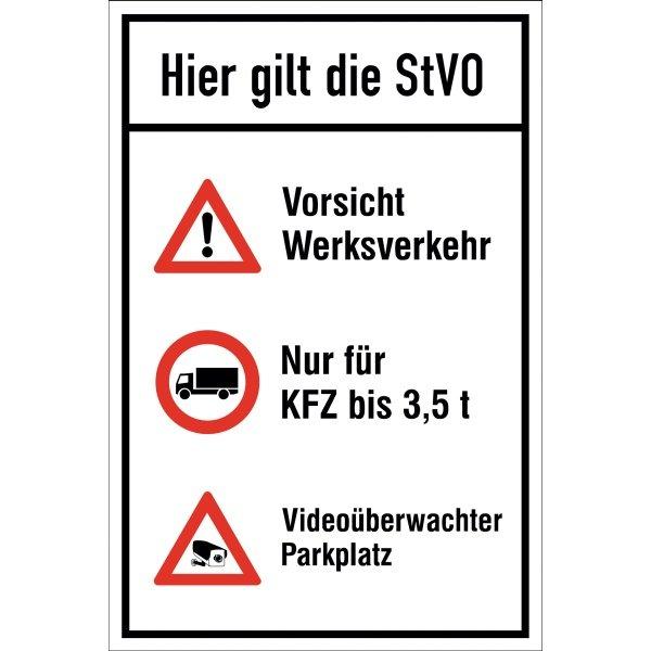 Parkplatz-Kombi-Schilder mit Symbolen und Text nach Wunsch - Parkplatzschilder