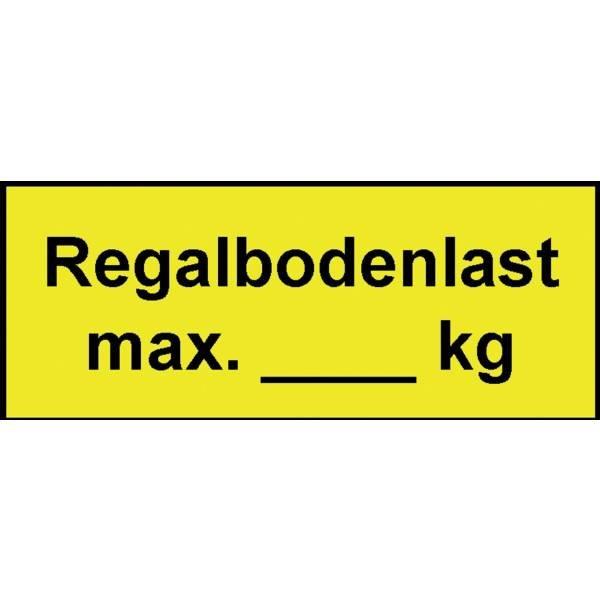 Regalkennzeichnung mit Gewichtsangabe nach Wunsch - Regalkennzeichnung, Lagerkennzeichnung