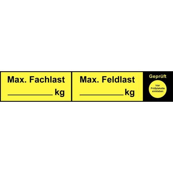 Regalkennzeichnung mit Gewichtsangabe nach Wunsch - Lagerorganisation