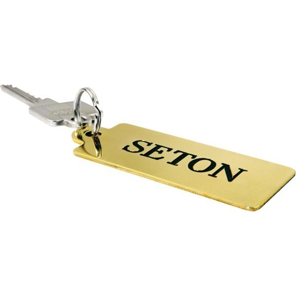 Schlüsselschilder aus Aluminium oder Messing, graviert - Schlüsselanhänger und Schlüsselaufbewahrung