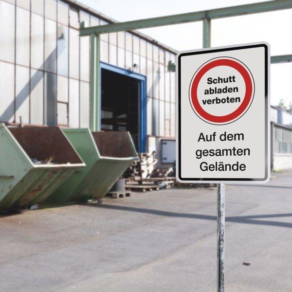 PREMIUM Aluminiumschilder mit Text, Logo und Aufdruckfarbe nach Wunsch, massiv - Hinweisschilder zur Betriebskennzeichnung