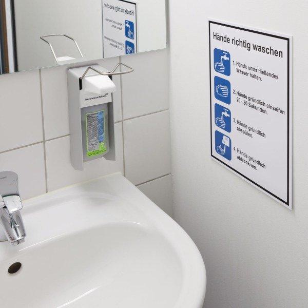 Hygiene-Anleitungen mit Symbol und Text nach Wunsch - Erste-Hilfe-Schilder