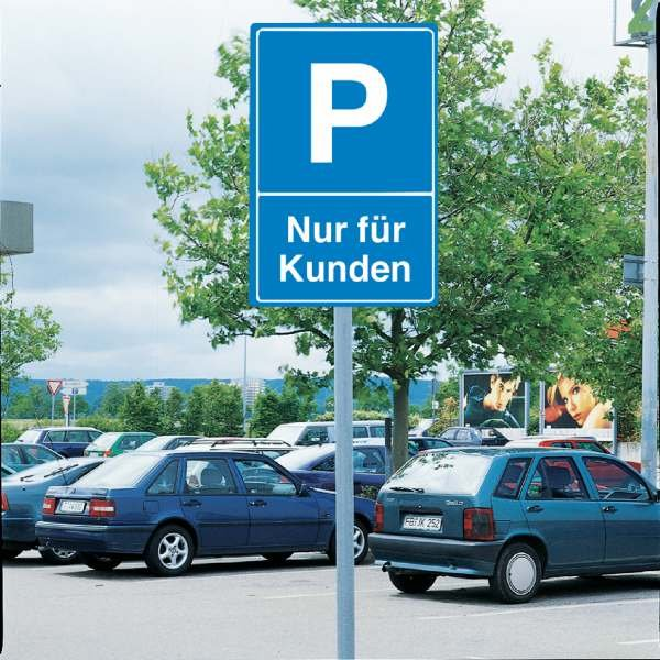 Parkschilder - Symbol Parken mit Text nach Wunsch - Parkschilder