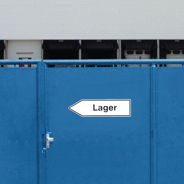 Wegweiser aus Aluminium und PVC-Folie - Aufdruck/Text nach Wunsch - Außen-Wegweiser