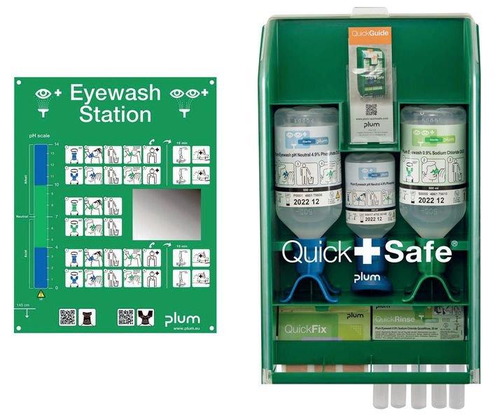 PLUM Augen-Notfall-Box zur Wandmontage, Chemie