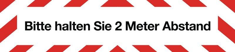 Bitte halten Sie 2 Meter Abstand - SetonWalk Bodenmarkierung, R10 nach DIN 51130/ASR A1.5/1,2