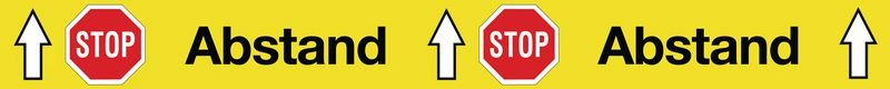 Antirutsch-Bodenmarkierung STOP Abstand STOP Abstand