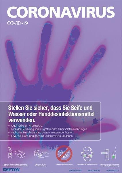 Hinweisposter CORONA Handhygiene