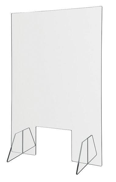Spuckschutz-Aufsteller für Kassenbereiche, mit Standfüßen