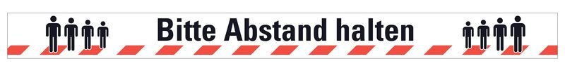 Bitte Abstand halten - Warnmarkierungsband mit Hygienehinweis - Warnbänder