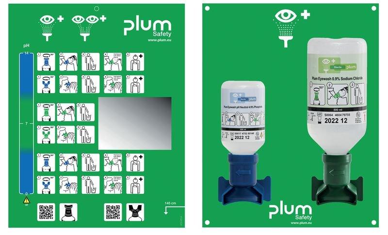 Plum Augenspülungs-Kombination mit Wandhalterung