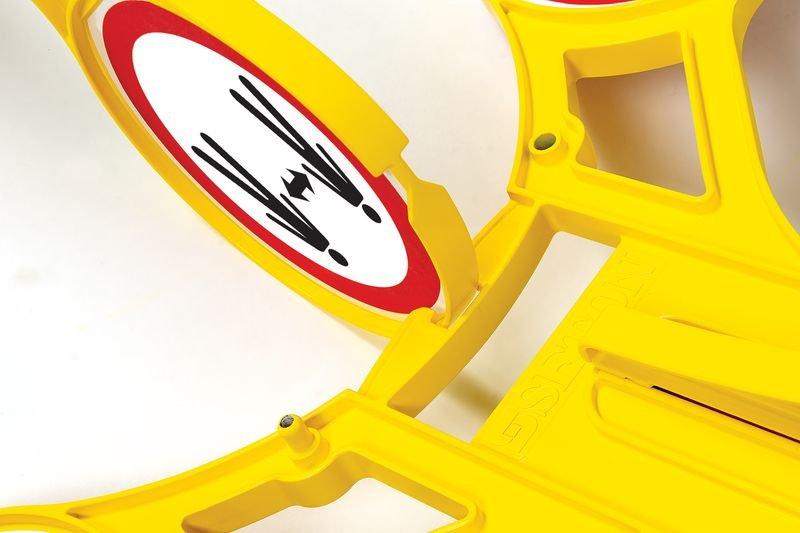 Abstand halten - SETON Warnaufsteller 360 mit Symbol, praxiserprobt