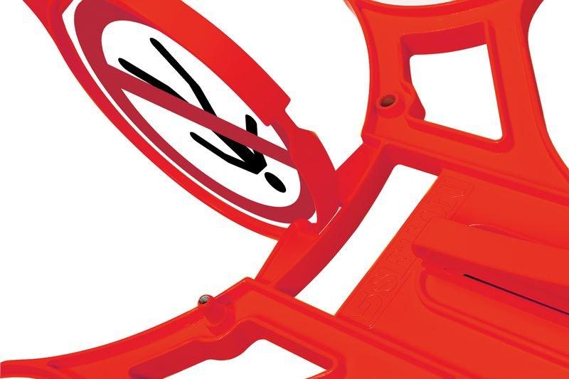 Fußgänger verboten - SETON Warnaufsteller 360 mit Verbotszeichen, praxiserprobt