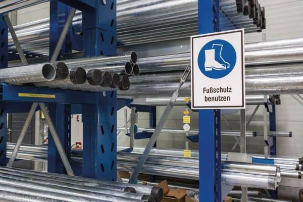 Kombi-Schilder mit Sicherheitszeichen - Symbol und Text nach Wunsch, ASR A1.3-2013, DIN EN ISO 7010