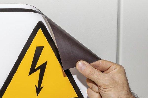 Mehrsymbol-Schilder mit 3 Symbolen und Text nach Wunsch, ASR A1.3-2013 und DIN EN ISO 7010 - Warnschilder neue ASR A1.3, EN ISO 7010