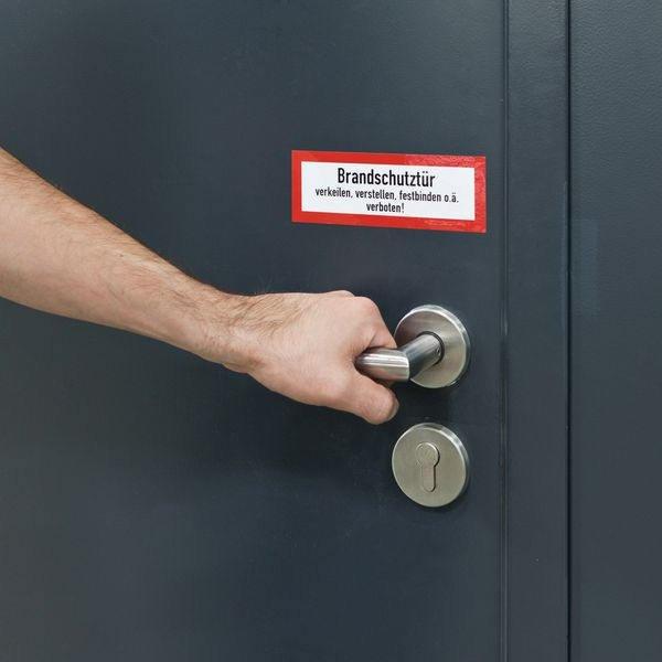 Brandschutzschilder mit Text nach Wunsch, DIN 4066 - Feuerwehr-Hinweisschilder nach DIN 4066
