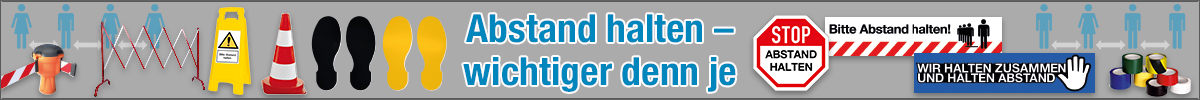 """""""Abstand halten"""" Schilder & Markierung online bestellen"""