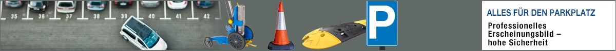 Alles rund um den Parkplatz: Parkplatzkennzeichnung & Sicherheitsprodukte