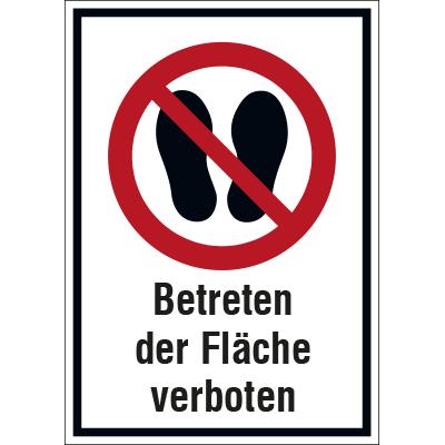 Betreten der Fläche verboten Schild
