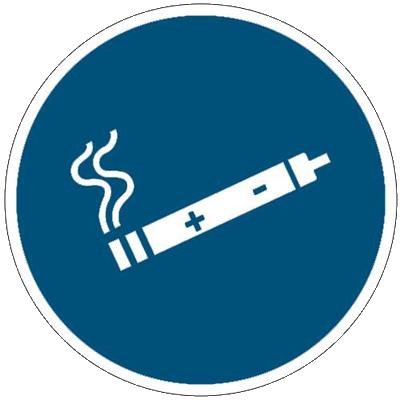 E-Zigarette erlaubt Schild