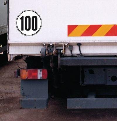 Geschwindigkeitsaufkleber 100 für Deutschland