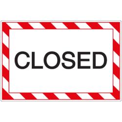 Öffnungszeiten-Schild Closed