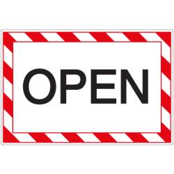 Öffnungszeiten-Schild Open