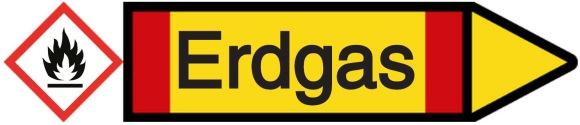 Rohrkennzeichnung Erdgas