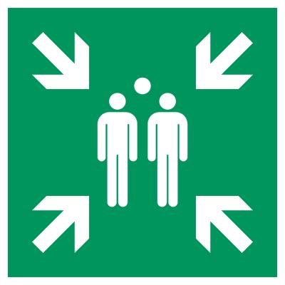Sammelstellenschild