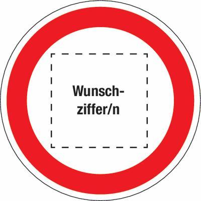 Schild Höchstgeschwindigkeit mit Wunschziffer