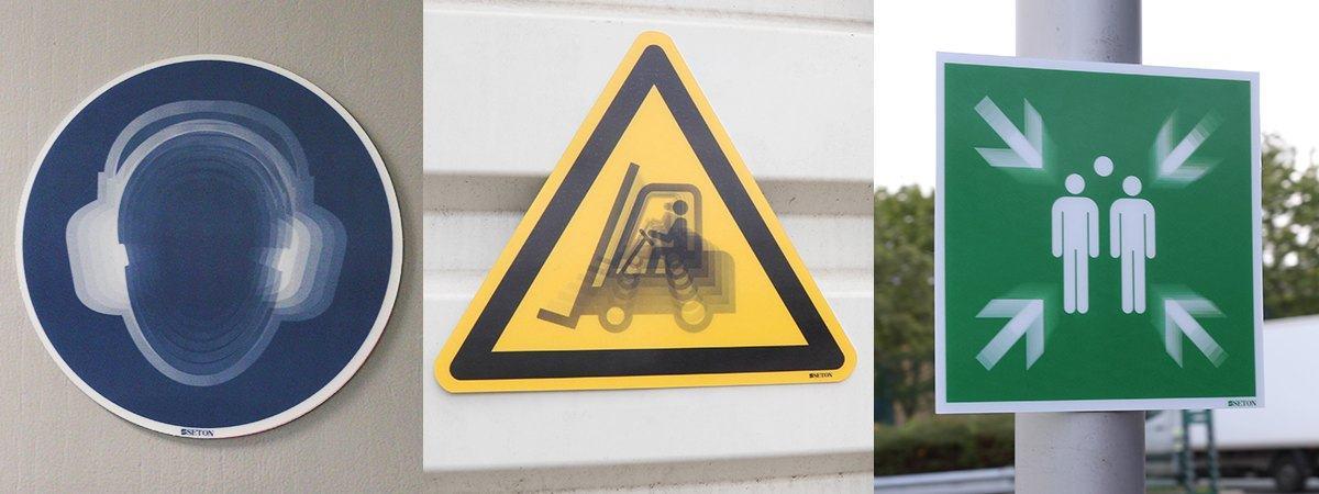 SETON Motion Lentikular-Schilder Anwendung