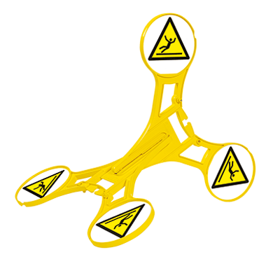 SETON Warnaufsteller 360 Warnung vor Rutschgefahr nach EN ISO 7010