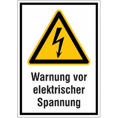 Warnung vor Spannung Schild