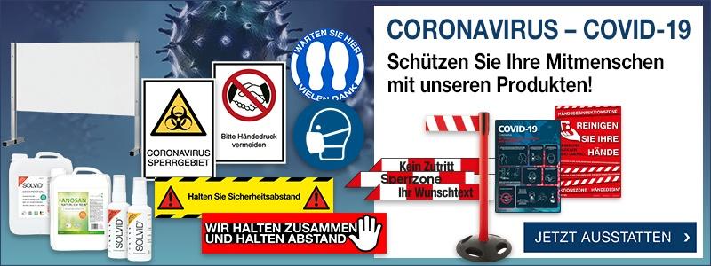 Coronavirus-Schutzmaßnahmen - Hygienemaßnahmen am Arbeitsplatz