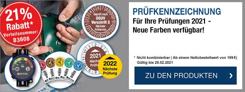 Prüfkennzeichnung - 2021 kann kommen! -  Jetzt 21 % Rabatt ab 199 EUR sichern mit der Vorteilsnummer B3608