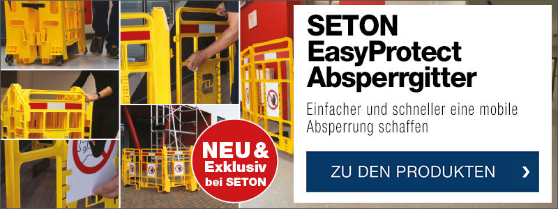 SETON EasyProtect Absperrgitter - Einfacher und schneller eine mobile Absperrung schaffen