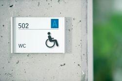 Türschild Behinderten-WC
