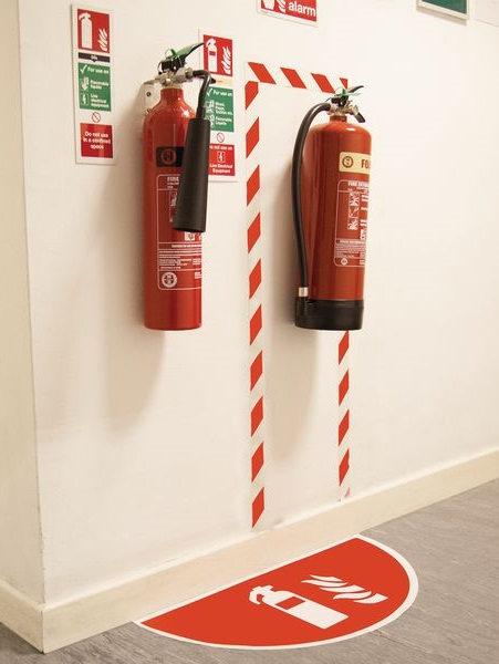 Hinweis-Bodenmarkierung Feuerlöscher
