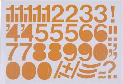 Klebeziffern in Orange