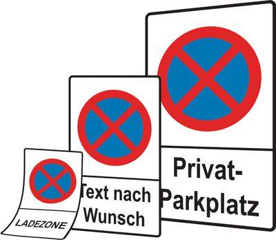 Material für Parkplatzschilder Folie Kunststoff und Aluminium