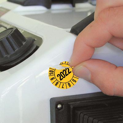 SETON Prüfplakette aus Polyesterfolie mit vierstelliger Jahreszahl