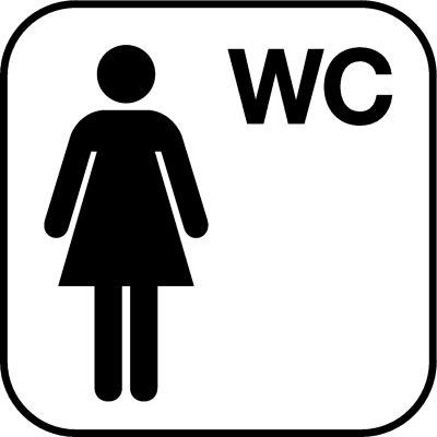Piktogramme für Damen WC's